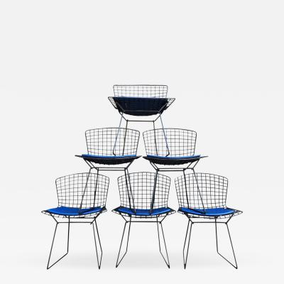 Harry Bertoia Harry Bertoia for Knoll Wire Chairs in Black