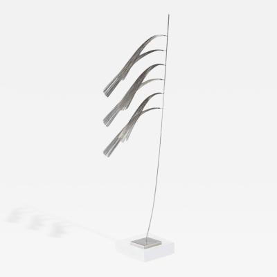 Harry Bertoia Rare Harry Bertoia Stainless Steel Wire Sculpture circa 1960