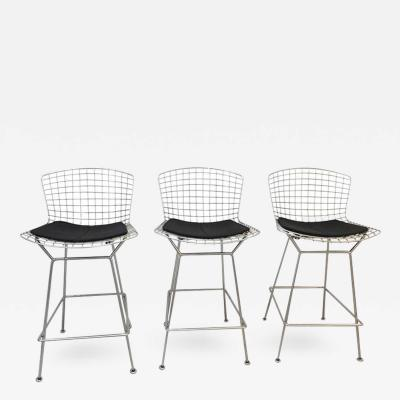 Harry Bertoia Set of 3 Barstools Harry Bertoia for Knoll