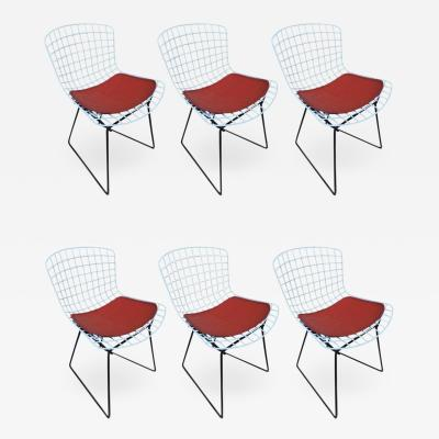 Harry Bertoia Set of Harry Bertoia Childs Chairs Original Knoll Orange Seat Pads