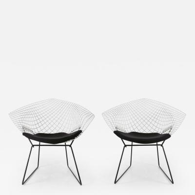 Harry Bertoia Set of two diamond chairs by Harry Bertoia