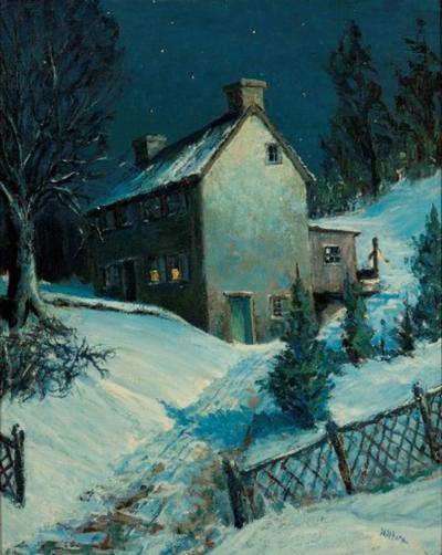 Harry Horn Moonlit House