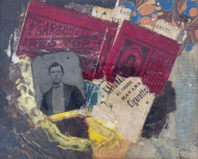 Harry St John Dix Collage with Tin Type by American artist Harry St John Dix 1908 1968