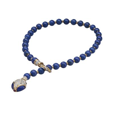 Harry Winston Harry Winston Lapis Diamond 18kt White and Yellow Gold Y Necklace