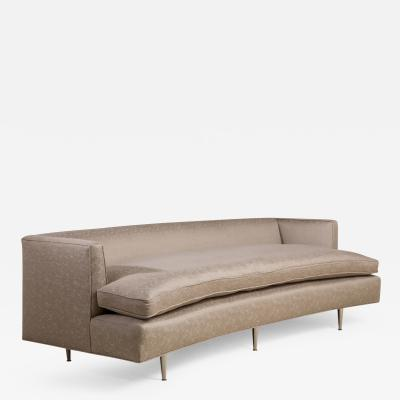 Harvey Probber A Harvey Probber Style Curved Upholstered Sofa 1950s