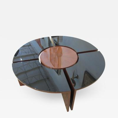 Harvey Probber American Modern Mahogany and Lacquer 5 Piece Prototype Low Table Harvey Probber