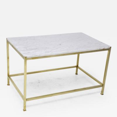 Harvey Probber Brass and Marble Coffee Table by Harvey Probber