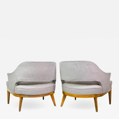 Harvey Probber Chic Pair of Lounge Chairs by Harvey Probber