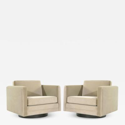 Harvey Probber Cube Swivel Chairs by Harvey Probber Model no 1461