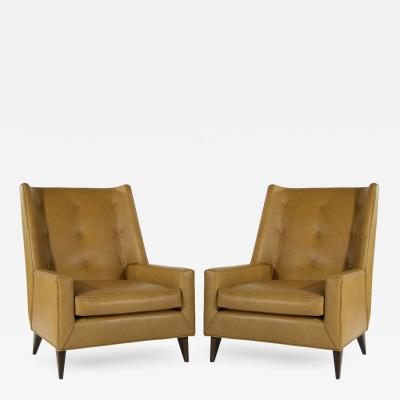 Harvey Probber Early Highback Lounge Chairs by Harvey Probber