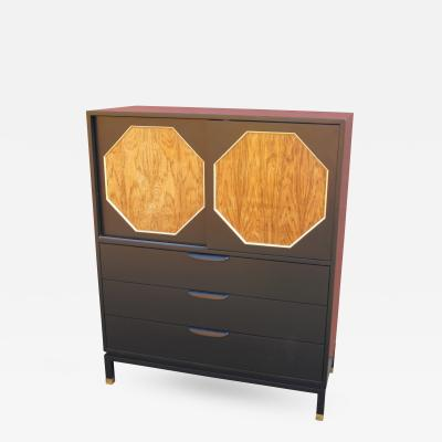 Harvey Probber Ebonized Mahogany and Rosewood Cabinet by Harvey Probber