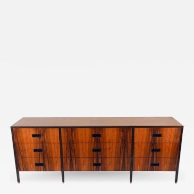 Harvey Probber Exceptional 9 Drawer Rosewood Dresser by Harvey Probber