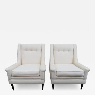 Harvey Probber Gorgeous Pair of Harvey Probber Style Lounge Chairs Mid Century Modern