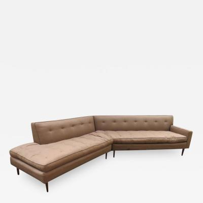 Harvey Probber Handsome Harvey Probber 2 Piece Nuclear Sert Sectional Sofa Mid Century Modern
