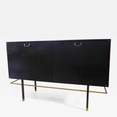 Harvey Probber Harvey Probber 2 Door Sideboard with Brass Handles and Ring