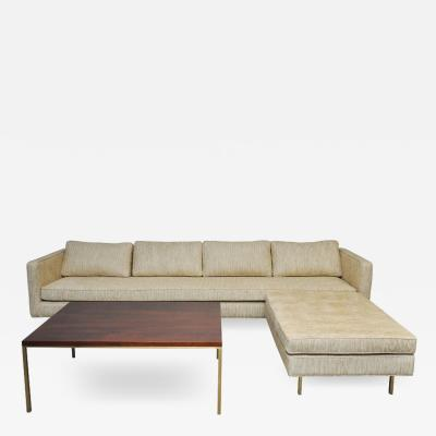 Harvey Probber Harvey Probber Brass Base Sofa Ottoman Coffee Table