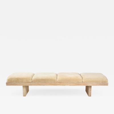 Harvey Probber Harvey Probber Cerused Oak Shearling Bench