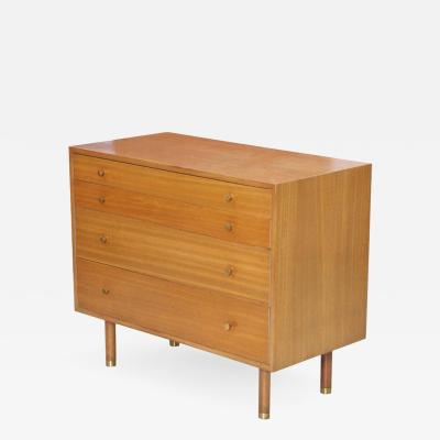 Harvey Probber Harvey Probber Chest of Drawers with Brass Pulls