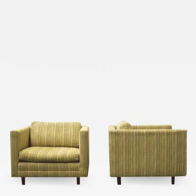 Harvey Probber Harvey Probber Cube Lounge Chairs