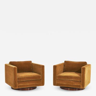 Harvey Probber Harvey Probber Cube Swivel Chairs Model no 1461