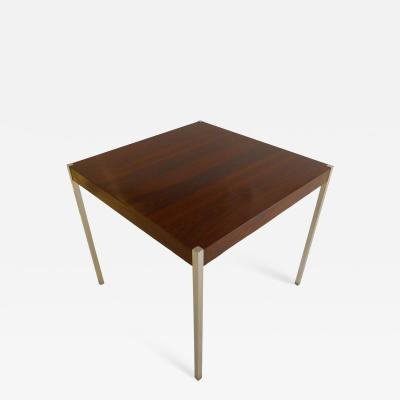 Harvey Probber Harvey Probber Dining Table in Rosewood and Chrome