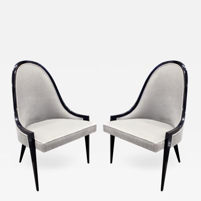 Harvey Probber Harvey Probber Elegant Pair of Side Chairs 1950s