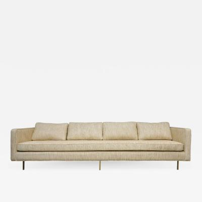 Harvey Probber Harvey Probber Even Arm Sofa on Brass Legs