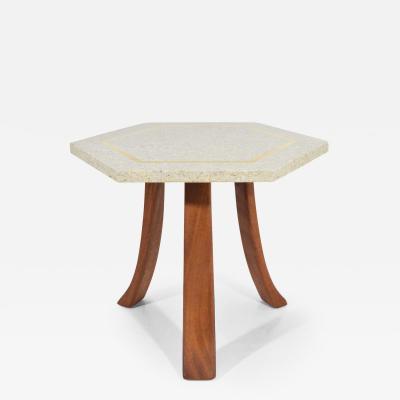 Harvey Probber Harvey Probber Hexagonal Terrazzo Side Table