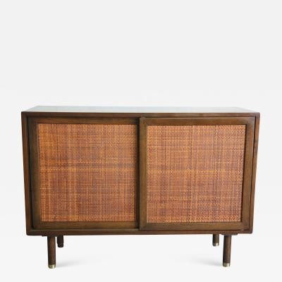 Harvey Probber Harvey Probber Mahogany and Rattan Cabinet