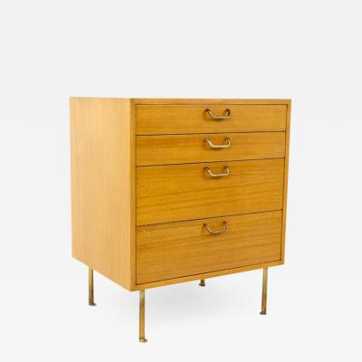 Harvey Probber Harvey Probber Mid Century Mahogany and Brass 4 Drawer Dresser Chest