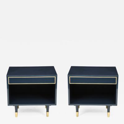 Harvey Probber Harvey Probber Midnight Blue Lacquer Nightstands