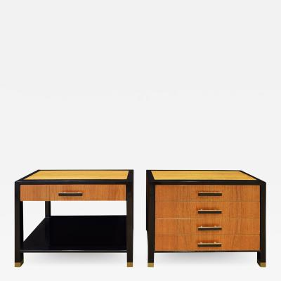 Harvey Probber Harvey Probber Pair Of Bedside Tables In Mahogany And Teak 1960s Signed