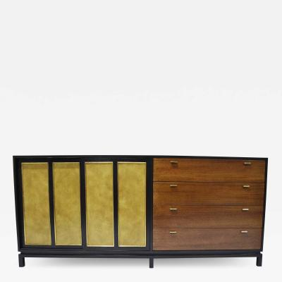 Harvey Probber Harvey Probber Signed Sideboard in Mahogany with Gold Trim 1960s