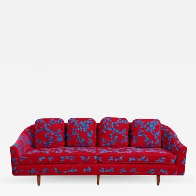 Harvey Probber Harvey Probber Sofa with Jupe by Jackie Hand Embroidered Fabric