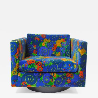 Harvey Probber Harvey Probber Swivel Cube Lounge Chair