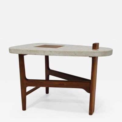 Harvey Probber Harvey Probber Terrazzo and Walnut Side Table