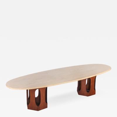 Harvey Probber Harvey Probber Travertine Coffee Table