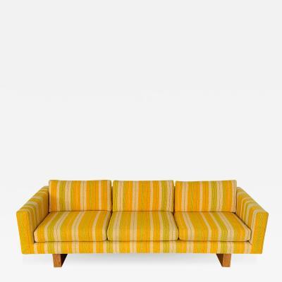 Harvey Probber Harvey Probber Tuxedo Sofa with Oak Legs