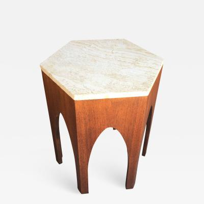 Harvey Probber Harvey Probber Walnut and Marble Side Table