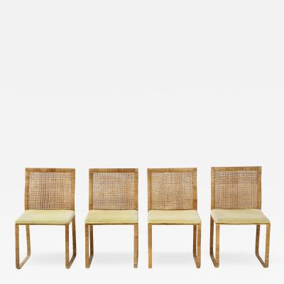 Harvey Probber Harvey Probber Woven Rattan Dining Chairs