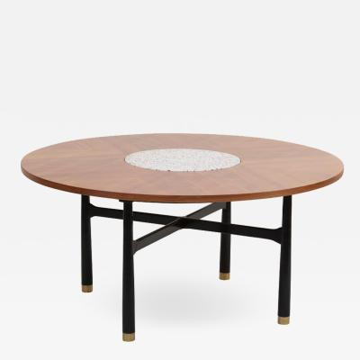 Harvey Probber Huge Harvey Probber Walnut and Terrazzo Marble Table