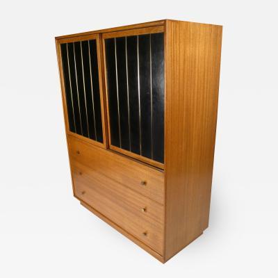 Harvey Probber Leather Faced Probber Cabinet