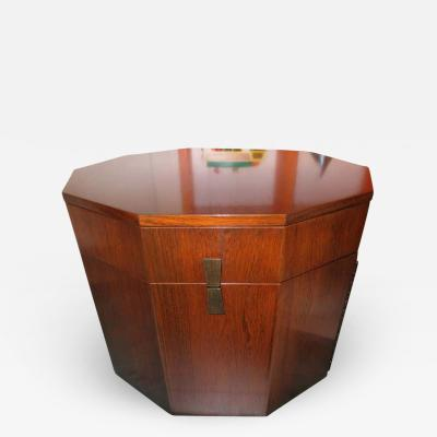 Harvey Probber Magnificent Harvey Probber Rosewood Decagon Bar Table Mid Century Modern