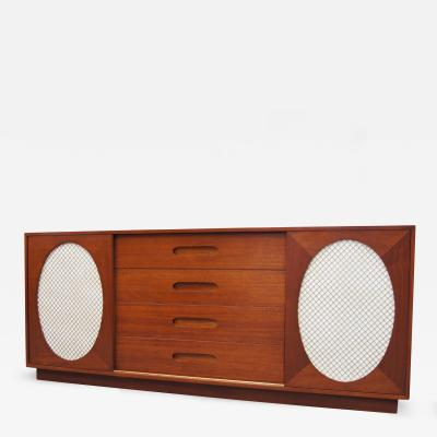 Harvey Probber Mahogany and Lacquer Sideboard by Harvey Probber
