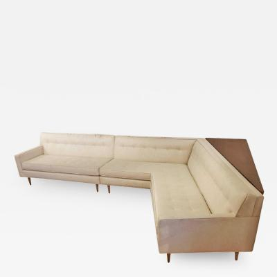 Harvey Probber Mid Century Harvey Probber Nuclear Sert Sectional Sofa and Console Table