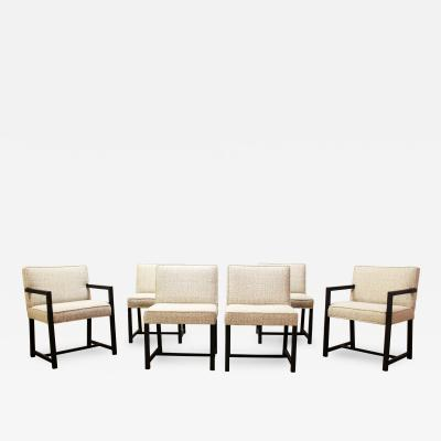 Harvey Probber Mid Century Modern Harvey Probber for Directional Set of 6 Dining Chairs