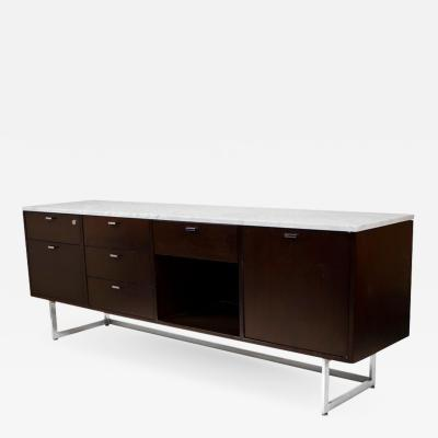 Harvey Probber Minimalist 1960s Harvey Probber Credenza with Calacatta Marble Top