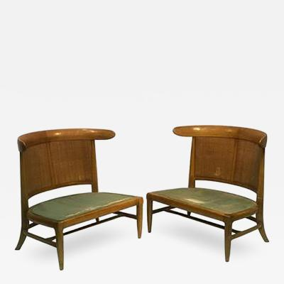 Harvey Probber Outstanding Pair of Chairs in the manner of Harvey Probber
