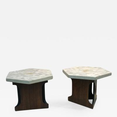 Harvey Probber PAIR OF HARVEY PROBBER TERRAZZO END TABLES