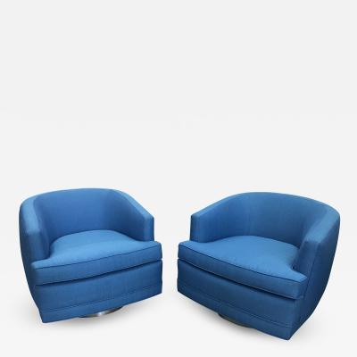 Harvey Probber Pair Of 1970s Harvey Probber Swivel Chairs